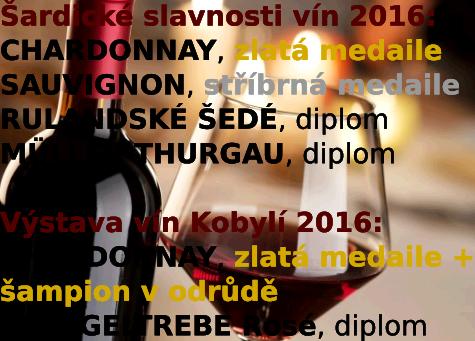 OCENĚNÍ VÍN ROČNÍKU 2015, Výstava vín Šardice a Kobylí