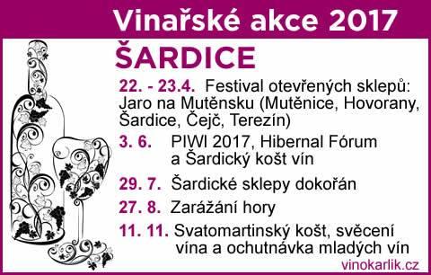 PŘEHLED VINAŘSKÝCH AKCÍ V ŠARDICÍCH NA R. 2017